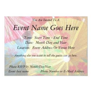 Pretty Party Parasols 5x7 Paper Invitation Card