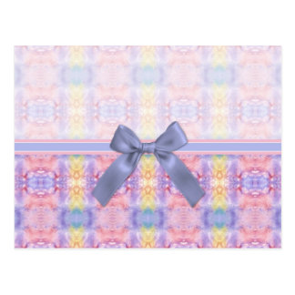 Pretty Pastel Abstract Postcard