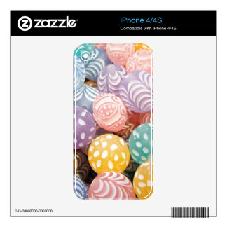 Pretty Pastel Bead Print - Pink Yellow Turquoise Skin For iPhone 4S