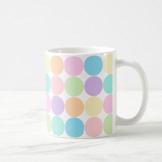 Pretty Pastel Big Dots Pattern Mug