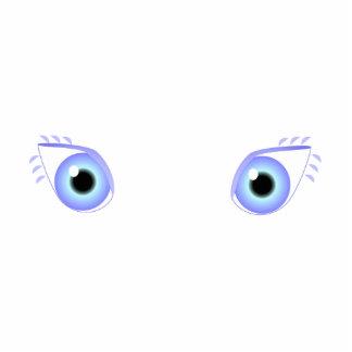 Pretty Pastel Blue Eyes Acrylic Cut Outs
