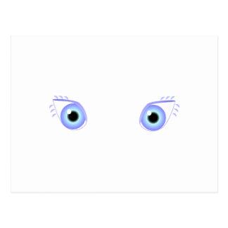 Pretty Pastel Blue Eyes Postcard