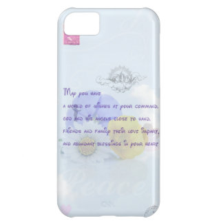 Pretty Pastel Blue Floral Irish Blessing iPhone 5C Cover