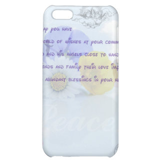 Pretty Pastel Blue Floral Irish Blessing iPhone 5C Cases