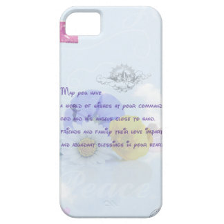 Pretty Pastel Blue Floral Irish Blessing iPhone SE/5/5s Case