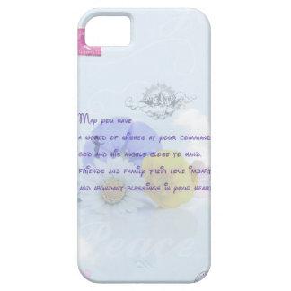 Pretty Pastel Blue Floral Irish Blessing iPhone SE/5/5s Case