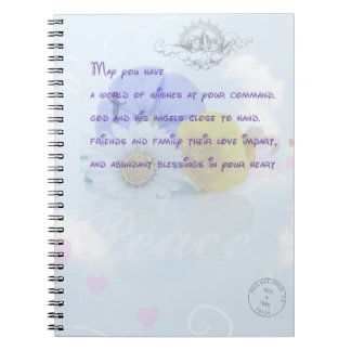 Pretty Pastel Blue Floral Irish Blessing Notebook