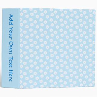 Pretty Pastel Blue Floral Pattern. Binder