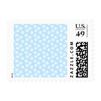 Pretty Pastel Blue Floral Pattern. Postage