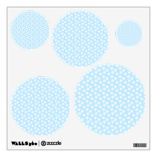 Pretty Pastel Blue Floral Pattern. Wall Decal