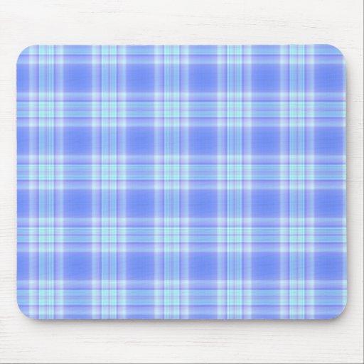 Pretty Pastel Blue Plaid Mousepad