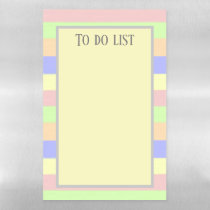Pretty Pastel Brush Strokes To Do List Magnetic Dry Erase Sheet