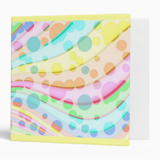 Pretty Pastel Bubbles Vinyl Binder