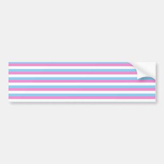 Pretty pastel candy Stripes Bumper Sticker