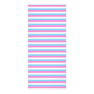 Pretty pastel candy Stripes. Customized Rack Card