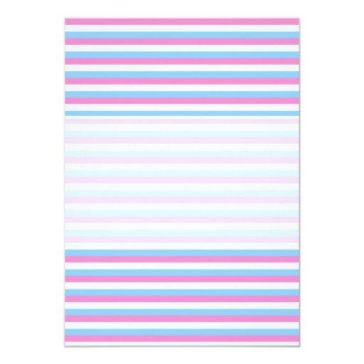 Pretty pastel candy Stripes. 5x7 Paper Invitation Card