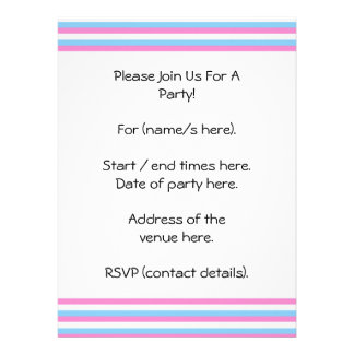 Pretty pastel candy Stripes Personalized Announcement