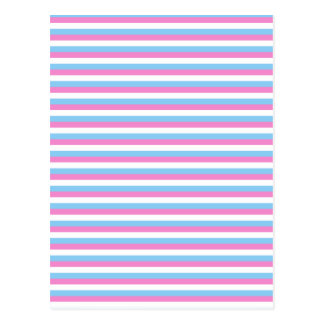 Pretty pastel candy Stripes. Postcard