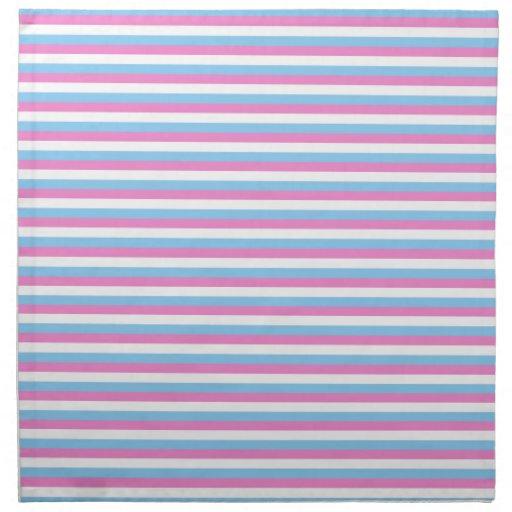 Pretty pastel candy Stripes. Printed Napkins