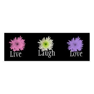 Pretty Pastel Chrysanthemums Bookmark Mini Business Card