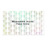 Pretty Pastel Color Seahorse Pattern Double-Sided Standard Business Cards (Pack Of 100)