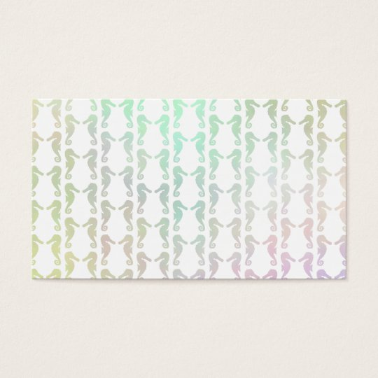 Pretty Pastel Color Seahorse Pattern Business Card