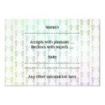 Pretty Pastel Color Seahorse Pattern 3.5x5 Paper Invitation Card