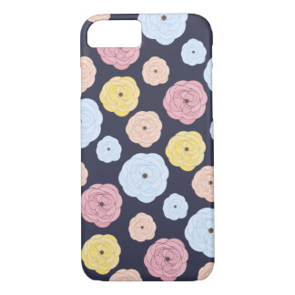 Pretty Pastel Colored  Ditsy Floral Pattern iPhone 8/7 Case