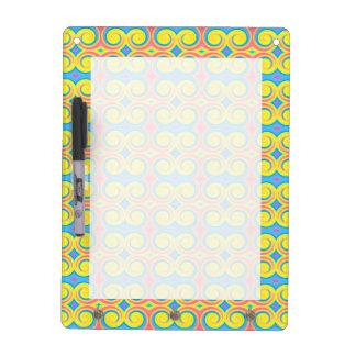 Pretty Pastel Colors Swirl Pattern Dry-Erase Board
