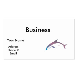 pretty pastel dolphin Double-Sided standard business cards (Pack of 100)