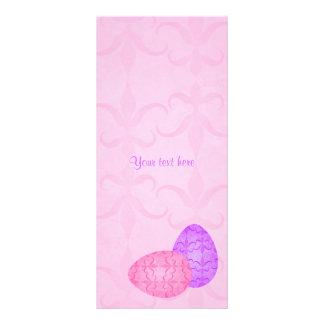 Pretty pastel Easter eggs Rack Card