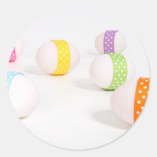 Pretty Pastel Eggs Classic Round Sticker