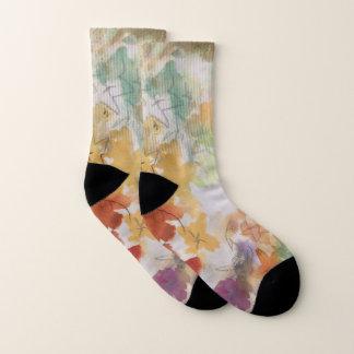 Pretty pastel flowers socks