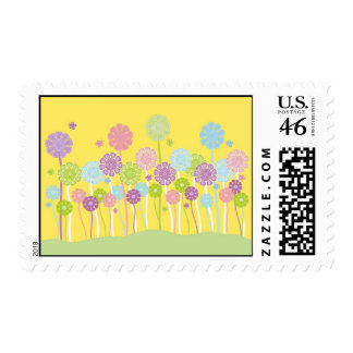 Pretty pastel flowers stamps