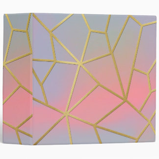 Pretty Pastel Geometrical Mosaic Pattern Binder