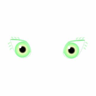 Pretty Pastel Green Eyes Photo Cutouts