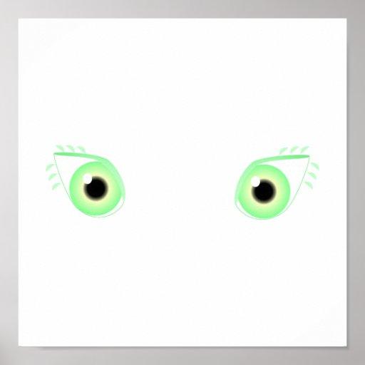 Pretty Pastel Green Eyes Poster