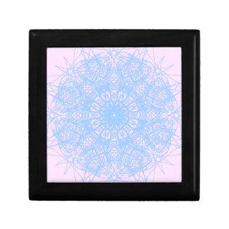 Pretty Pastel Mandala Small Tile Giftbox Jewelry Boxes