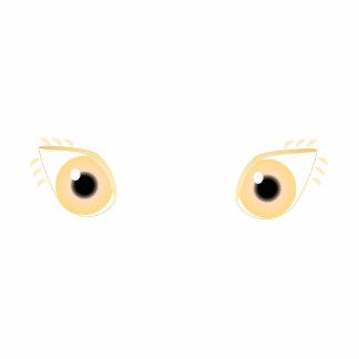 Pretty Pastel Orange Eyes Photo Cut Outs