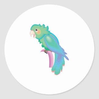 pretty pastel parrot classic round sticker