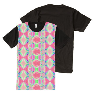 Pretty Pastel Pink Abstract design All-Over Print T-shirt
