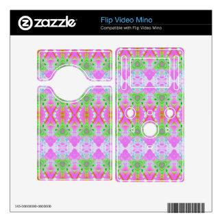 Pretty pastel pink green jewel pattern flip mino skins