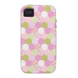 Pretty Pastel Pink Green Patchwork Quilt Design Vibe iPhone 4 Covers