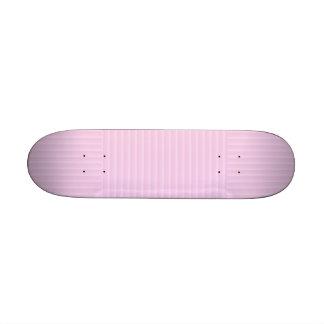 Pretty Pastel Pink Stripes. Skateboard