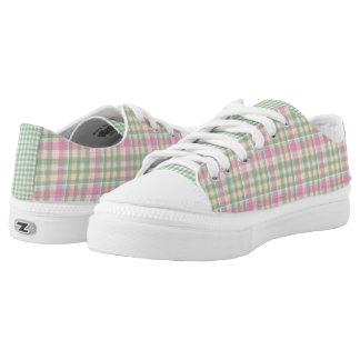 Pretty Pastel Plaid Tennis Shoes
