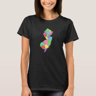 Pretty Pastel Rainbow Map of New Jersey T-Shirt