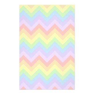Pretty Pastel Rainbow Zigzag Stripes. Flyer