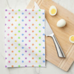 """Pretty Pastel Unicorn Hand Towel<br><div class=""""desc"""">The Pretty Pastel Unicorn Kitchen Towel designed by Enchantfancy Design Company features a sweet unicorn face complete with big eyelashes and a pastel rainbow unicorn horn. A pattern of pastel rainbow stars accent the background. Personalize with your choice of name!</div>"""