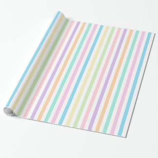 Pretty Pastel Vertical Stripes Wrapping Paper