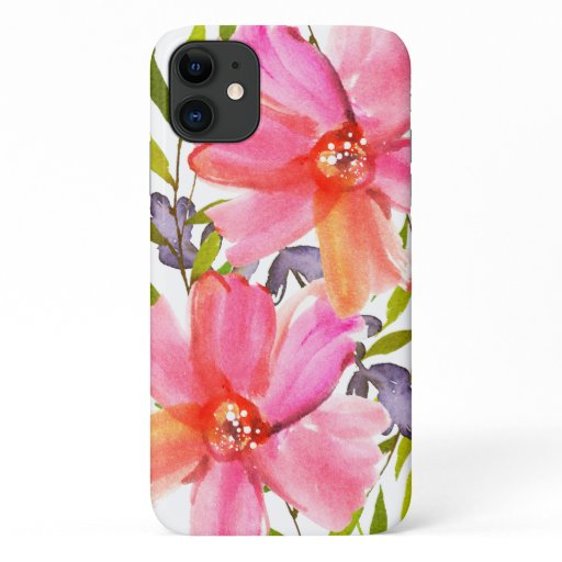 Pretty Pastel Watercolor iPhone 11 Case